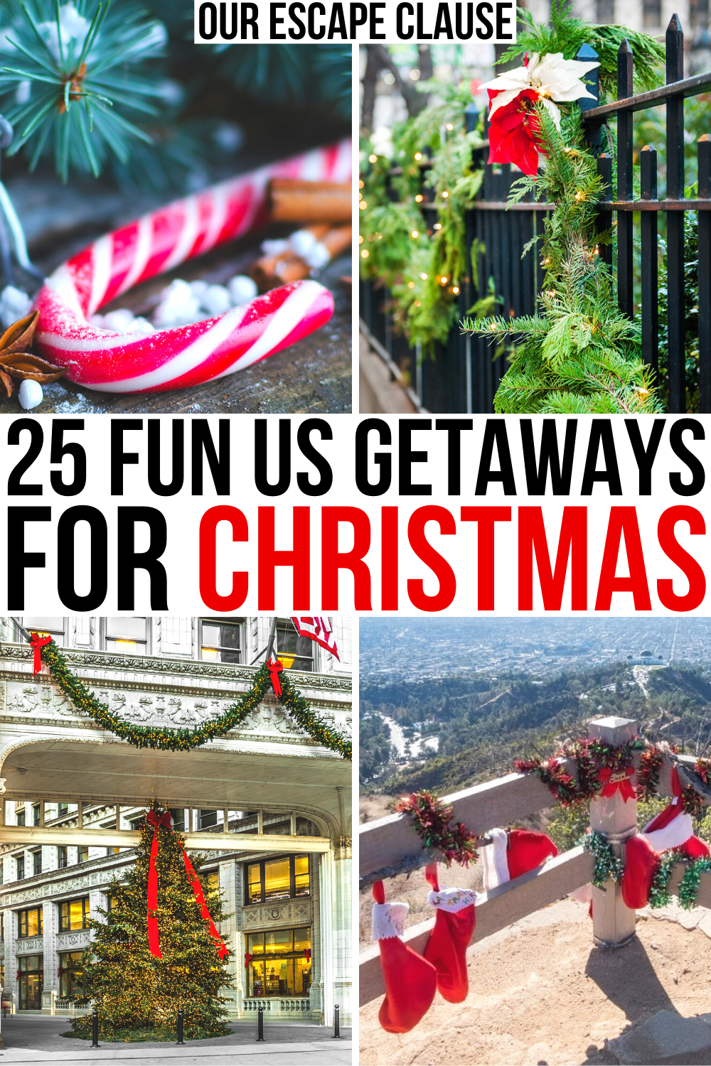 25 Best Christmas Vacations In The Usa Our Escape Clause In 2020 Best Christmas Vacations Christmas Travel Christmas Vacation Destinations
