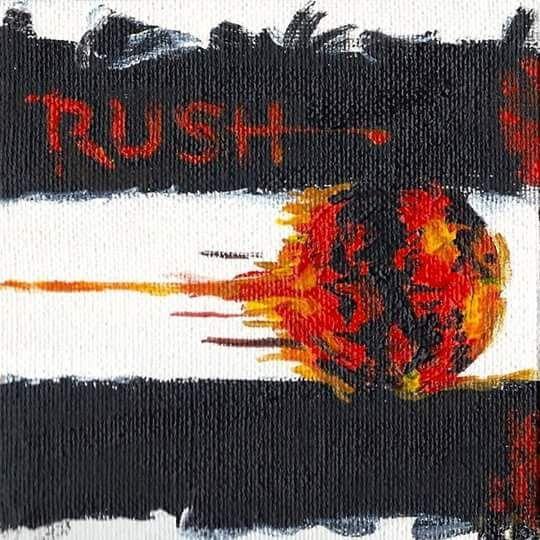 rush vapor trails album cover painting artist kelly d