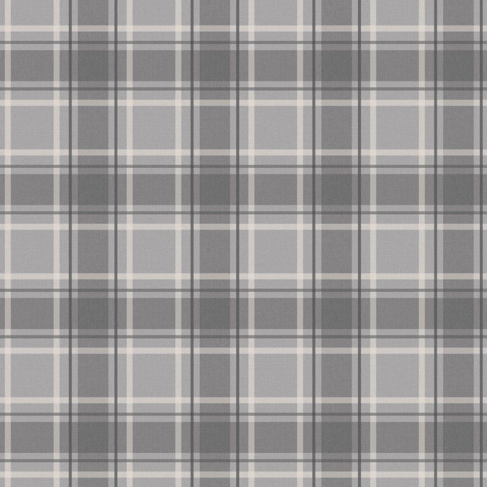 Tartan Wallpaper Soft Grey Charcoal Tartan wallpaper