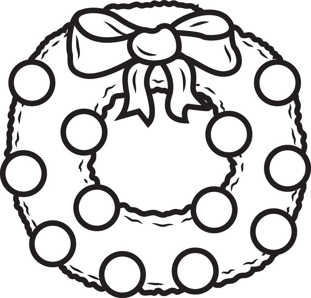 Printable Christmas Wreath Coloring Page For Kids Free Christmas