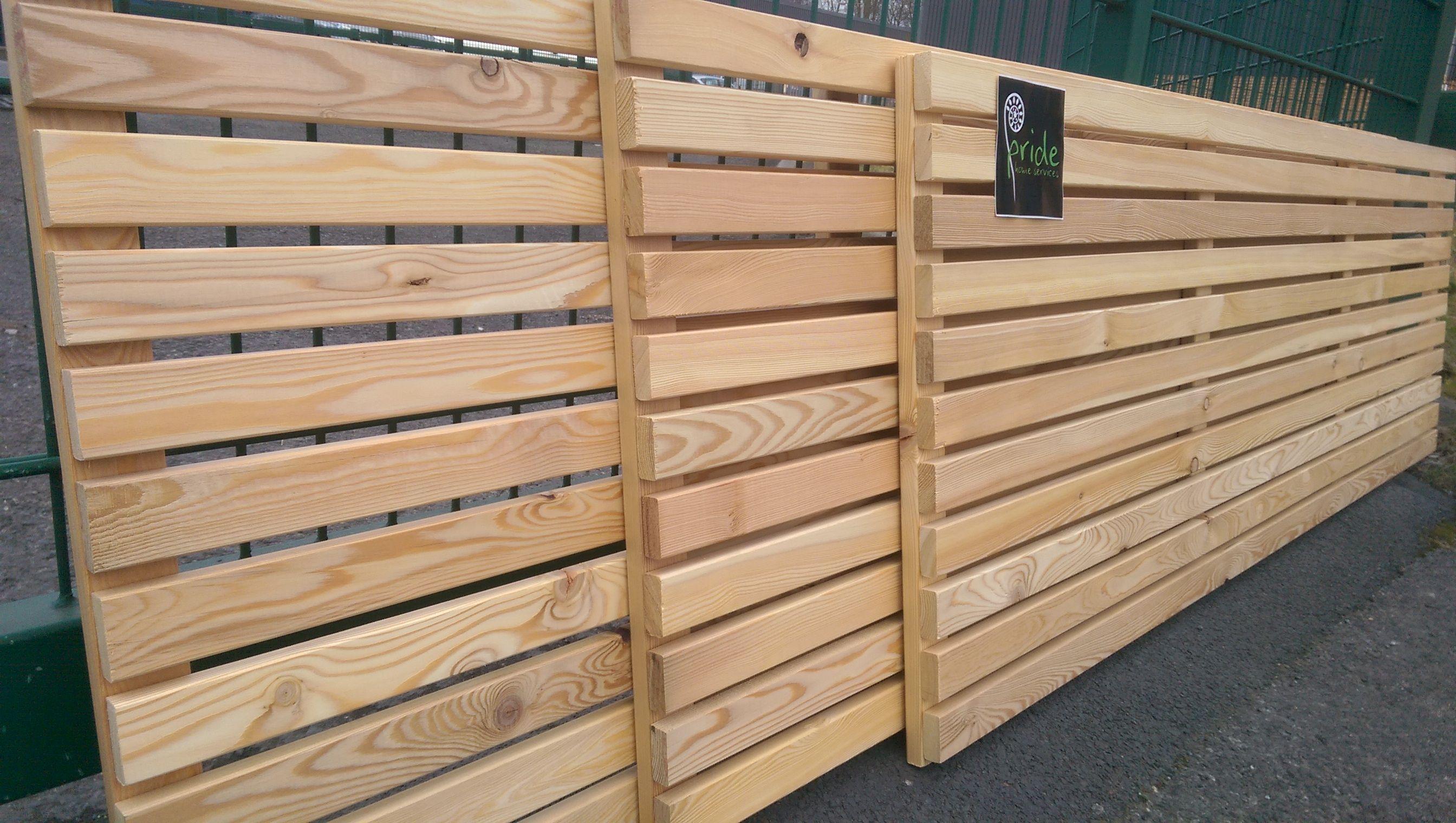 Siberian larch horizontal fence panels