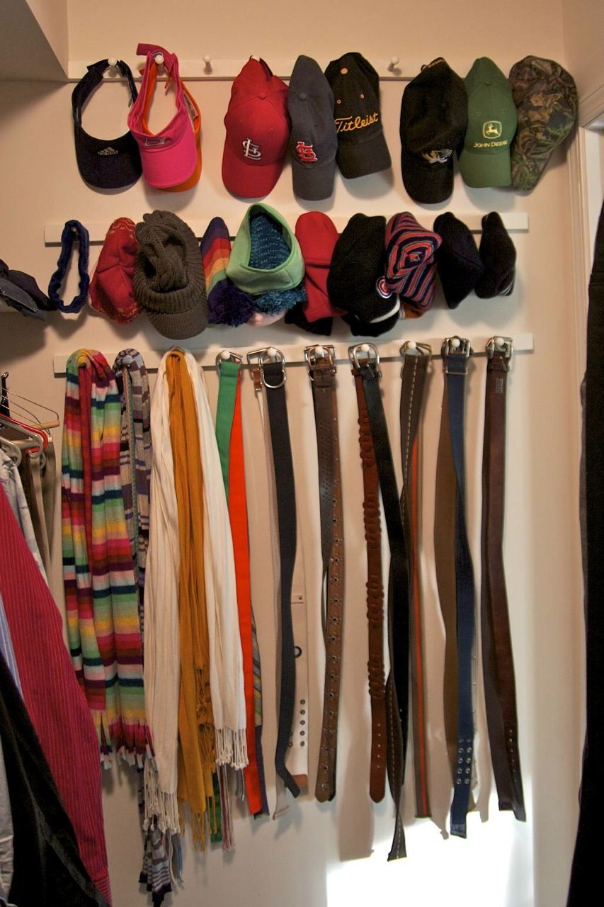 Wonderful One Way To Organise Hats And Belts