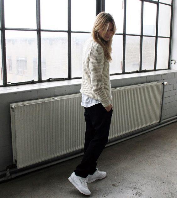 premium selection d5572 0de10 baskets-blanches-Reebok-classic-white-women-outfit