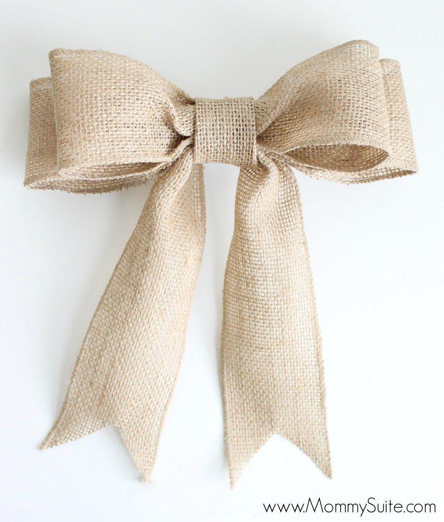PERFECT Burlap Bow Tutorial | Pinterest | Burlap bow tutorial, Bow ...