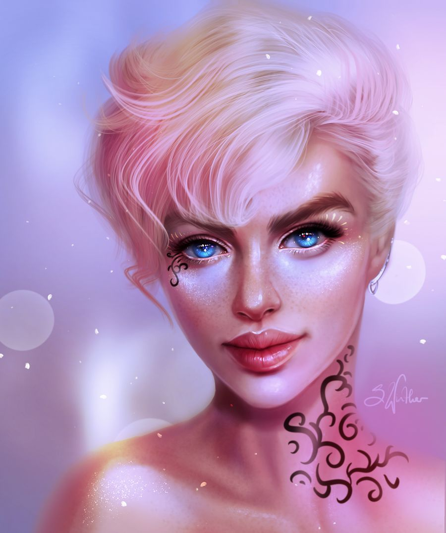 Soft By Sandrawinther On Deviantart In 2020 Digital Artist Beautiful Sketches Artist Models
