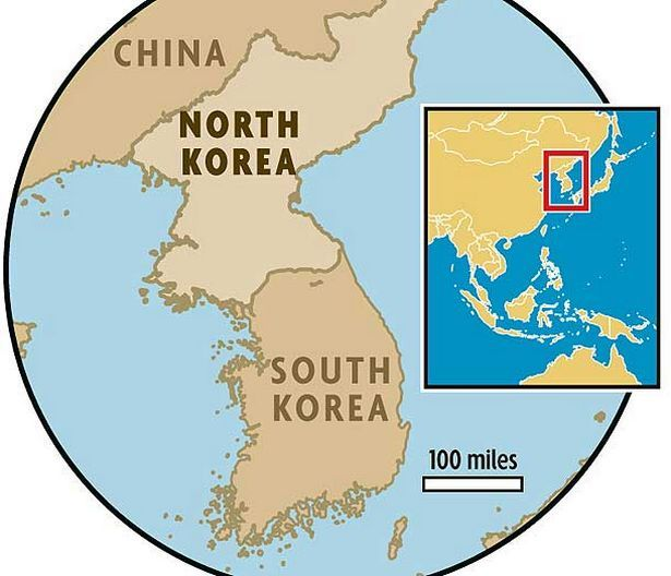 This is where North and South Korea are located on the world map ...