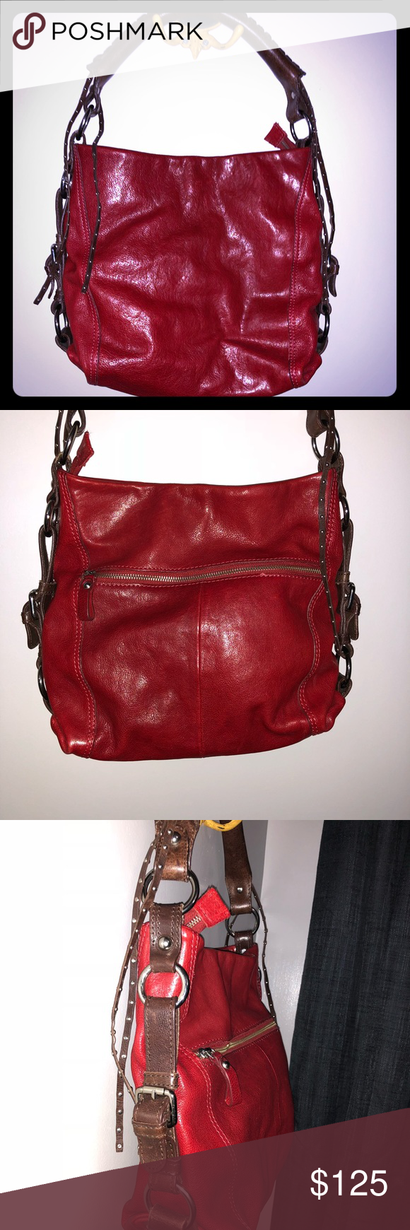 293ae38071c4 Tano like new bag Crimson leather bag with thick rounded handle for comfort  any way you carry it. Tano Bags Shoulder Bags