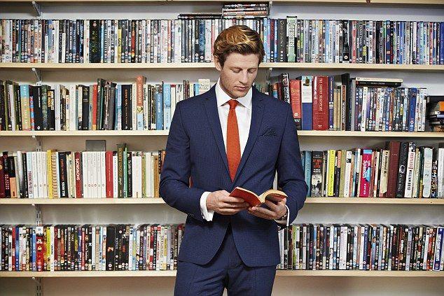 Suit, books galore, & James Norton.... a girl can dream