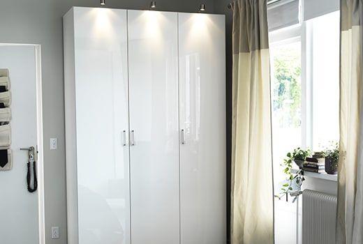 PAX fataskápur Corner wardrobe, Bedroom closet storage