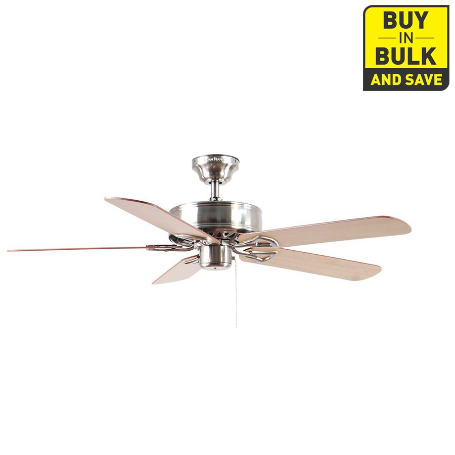 Harbor breeze classic 52 in brushed nickel downrod or close mount harbor breeze classic 52 in brushed nickel downrod or close mount indoor ceiling fan energy aloadofball Image collections