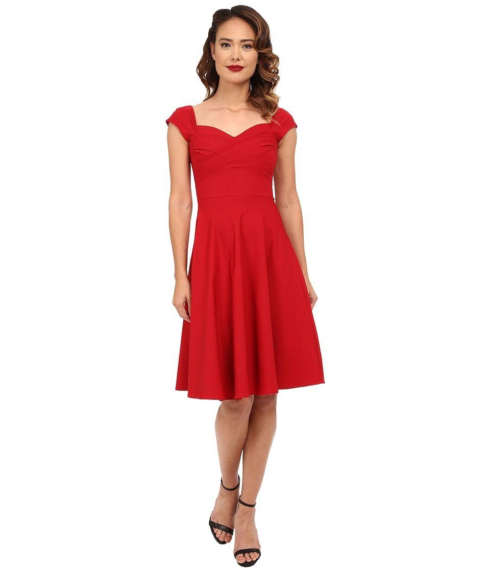 1940s Day Dresses Tea Dresses Swing Skirt Dress Red Dress Women Swing Skirt [ 1120 x 960 Pixel ]