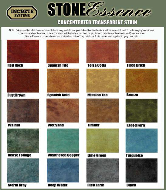 Photos Color Charts Decorative Concrete Of Virginia Va Hazel