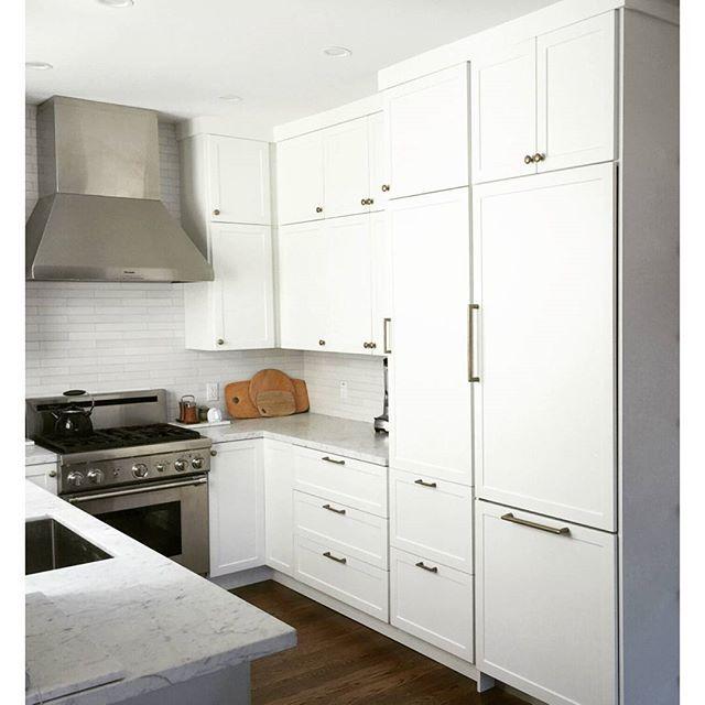 Semihandmade White Supermatte Shaker Doors And Slab Panels On An