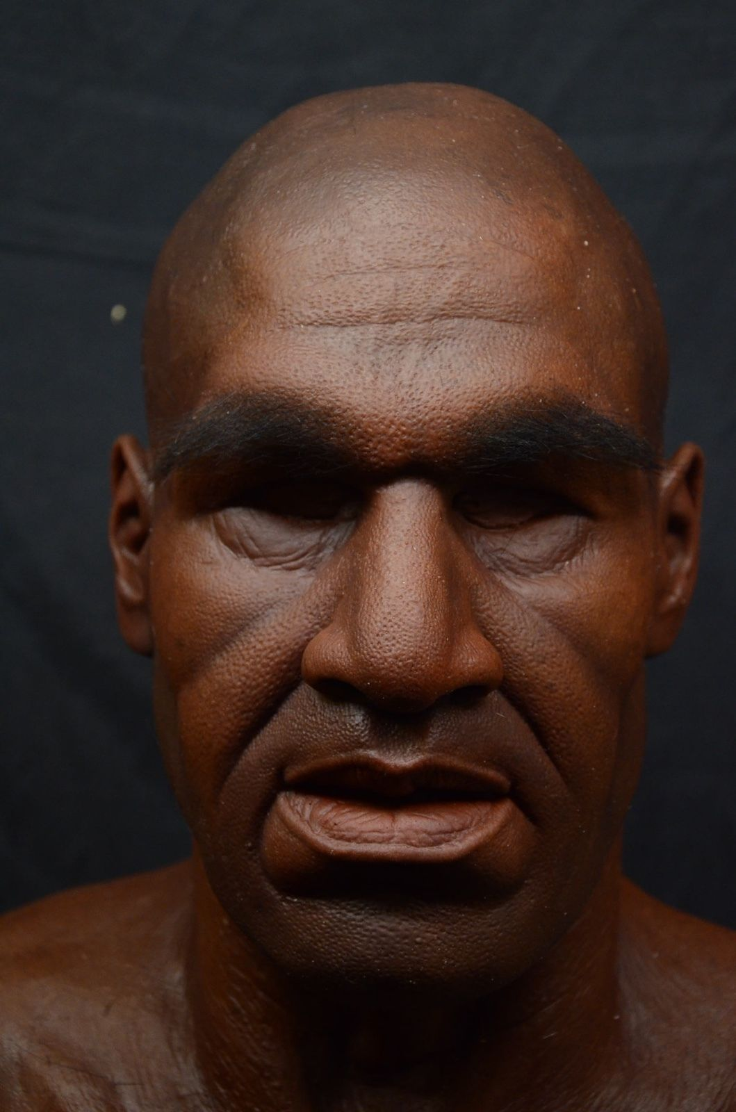 HAND MADE REALISTIC OLD MAN MASK. HAND PUNCHED EYEBROWS AND FULL ...