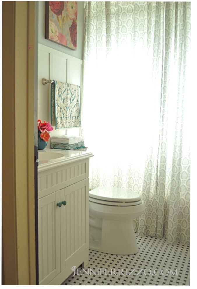 Bathroom Makeover Reveal Pinterest Ikea Curtains Batten And - Bathroom maker