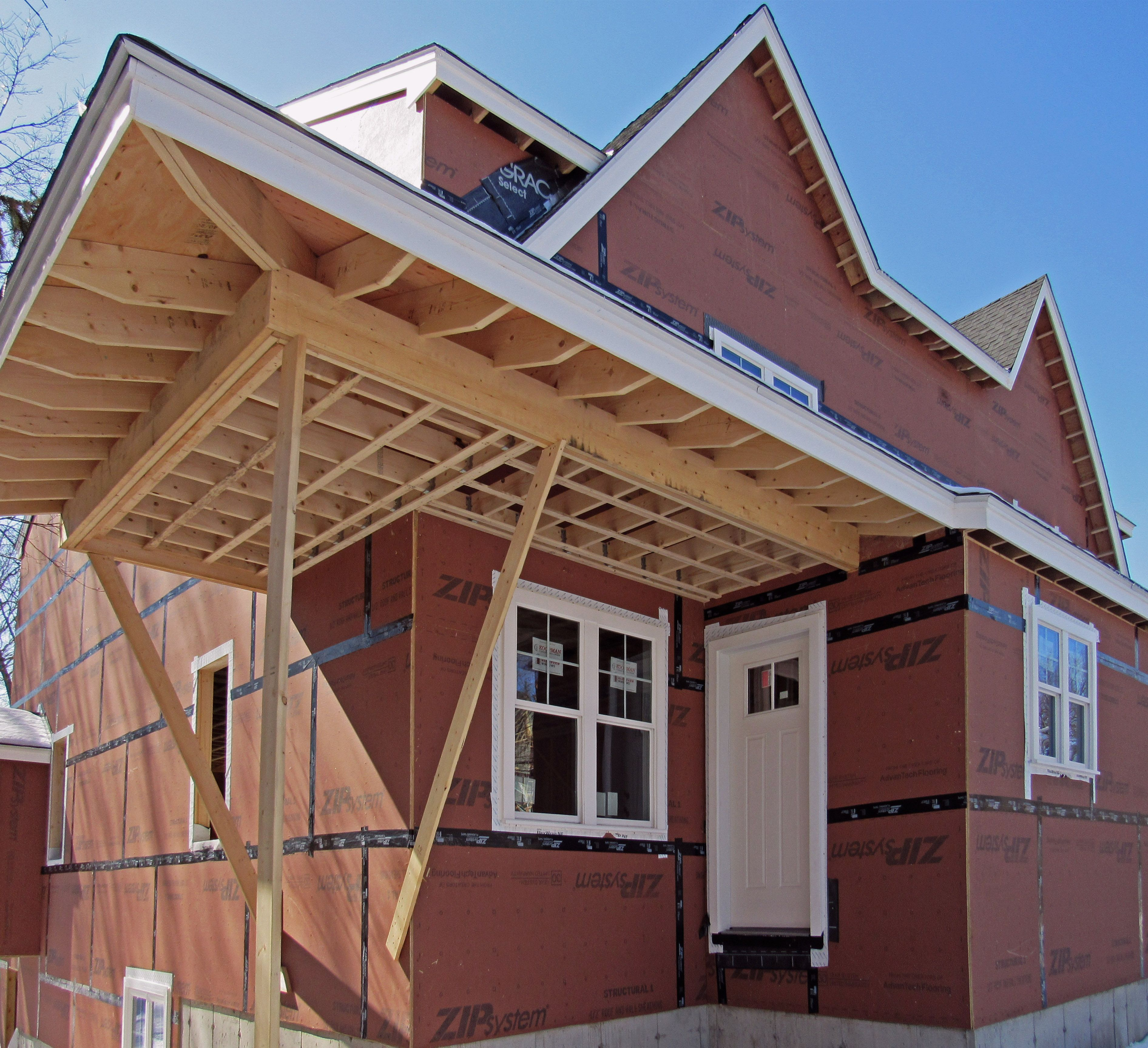 New Residential Condominiums Under Construction Building A Deck Frame Building A Deck Roofing Options