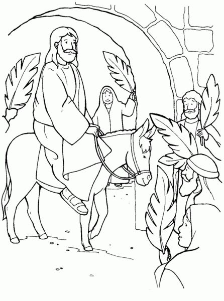 The Incredible Lovely palm sunday coloring page - http://coloring ...