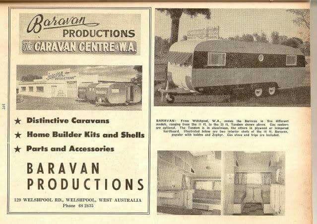 Baravan Productions Caravan Manufacturers At Welshpool In Perth Western Australia Welshpool Perth Western Australia Australian Vintage