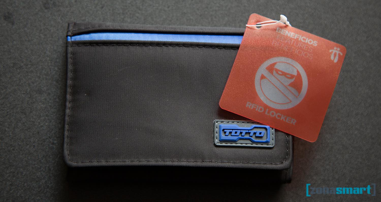 Perú: Billeteras Totto con bloqueador de señal RFID. Para que no te clonen las tarjetas de crédito.