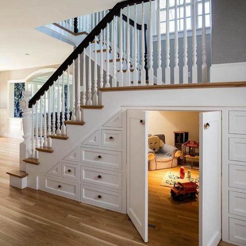 Hidden Playroom under the stairs…. via reddit