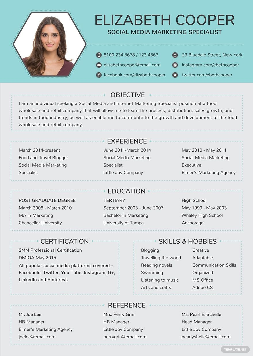 34+ Social media resume words Examples
