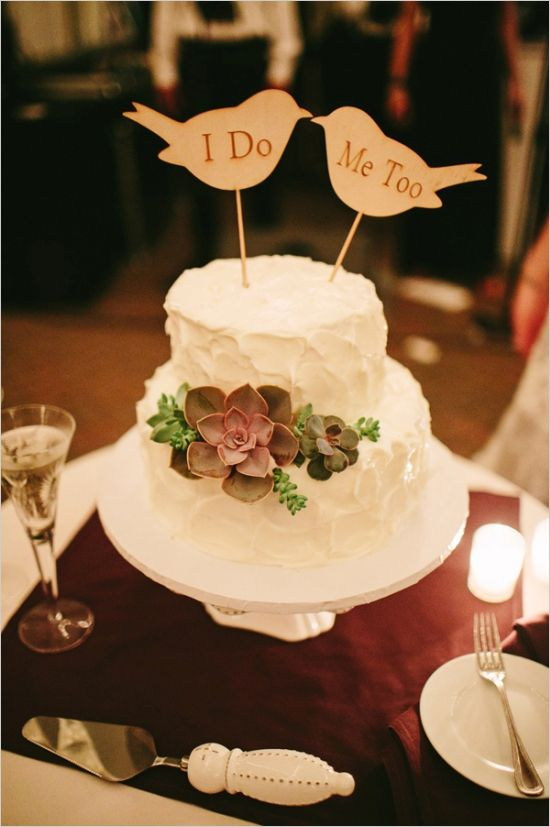 Charming Paper Bird Wedding Cake Topper