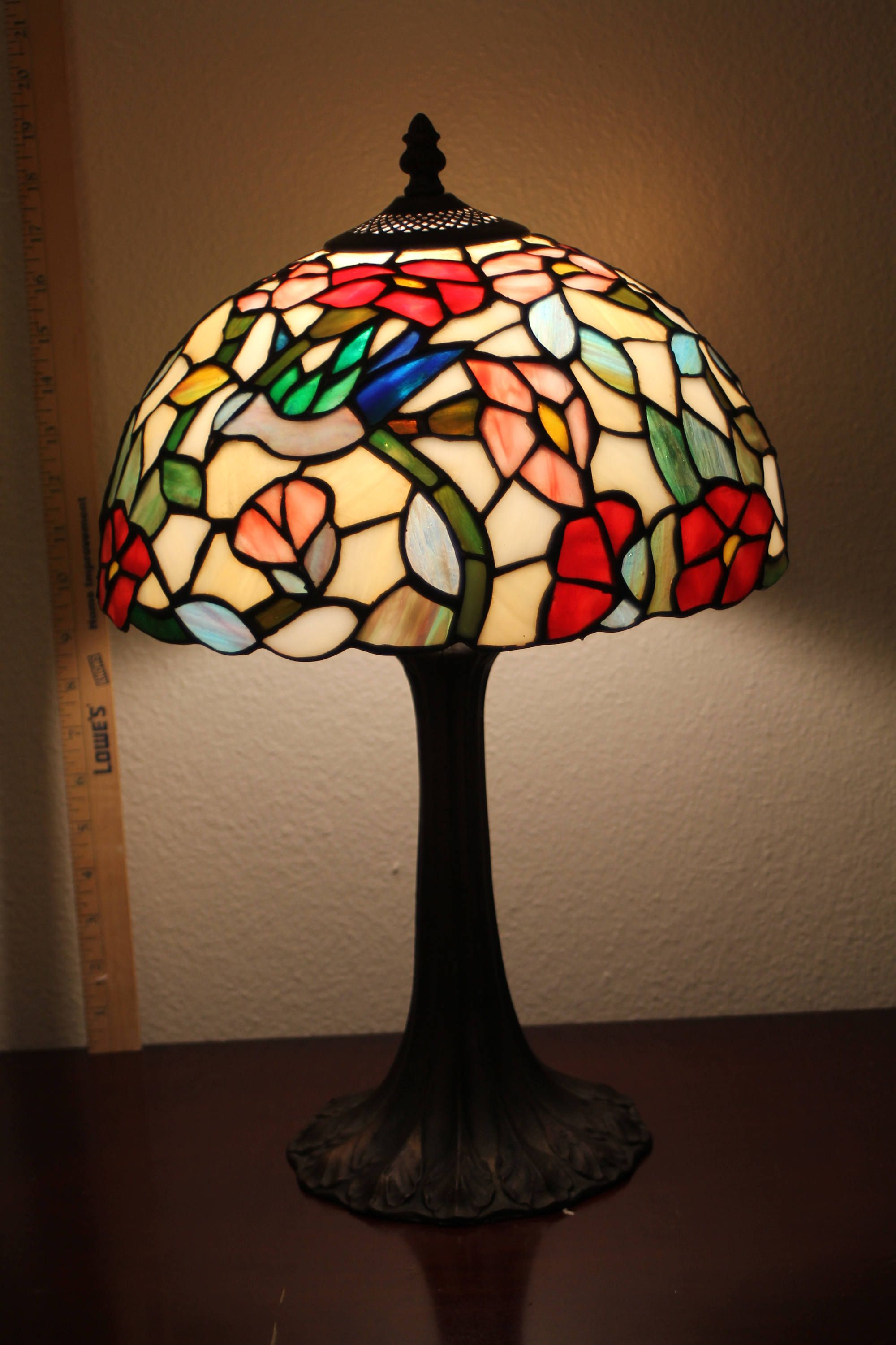 etsy lamps glass stained fan product copy goldfish table lamp