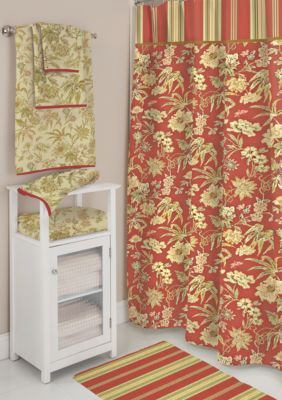 Waverly SHOWER CURTAIN RED 72X72