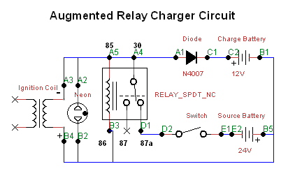 Imhotep Car Relay Charger circuit Adding additional Coil