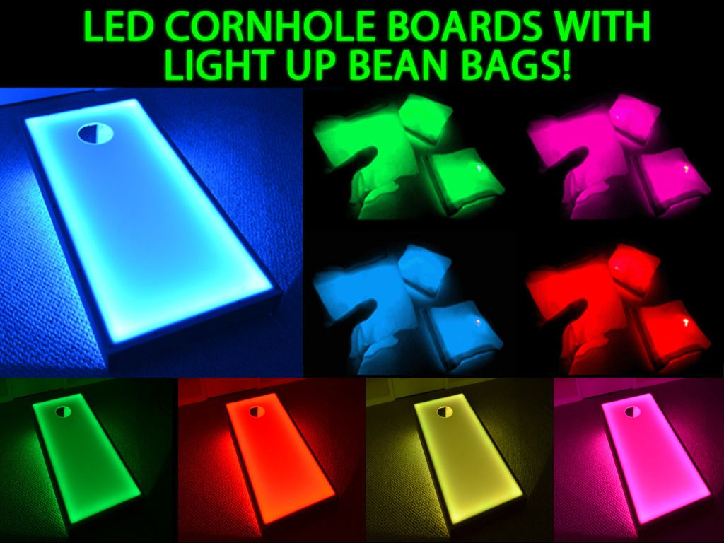 Led Light Fun Led Bean Bags With Light Up Cornhole Boards Great Glow