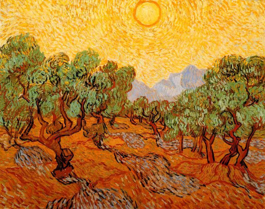 Vincent Van Gogh - Post Impressionism - Saint Rémy - Oliviers avec ...
