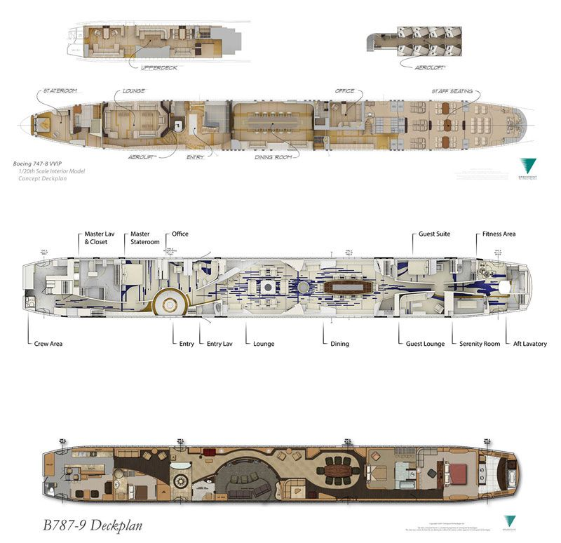boeing 7478 luxury floorplan Google Search Private