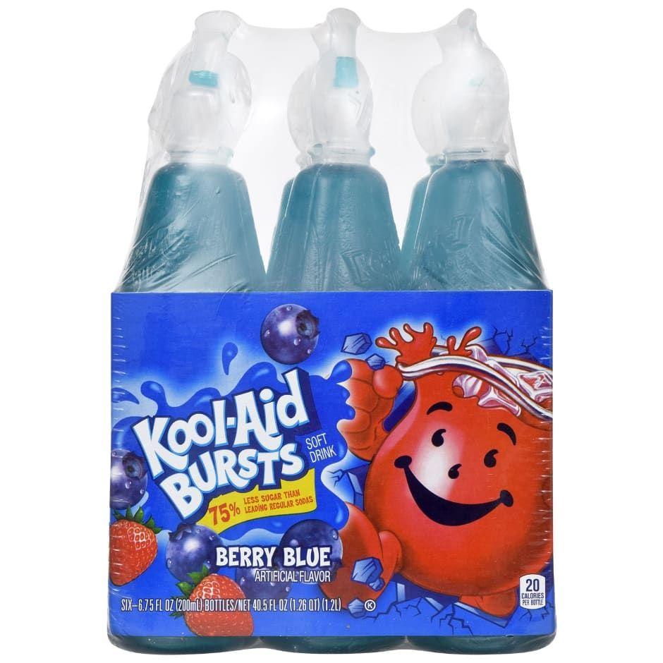 Kool Aid Bursts In Berry Blue Flavor 6 Ct Packs Kool Aid Kool Aid Bottles Drinks