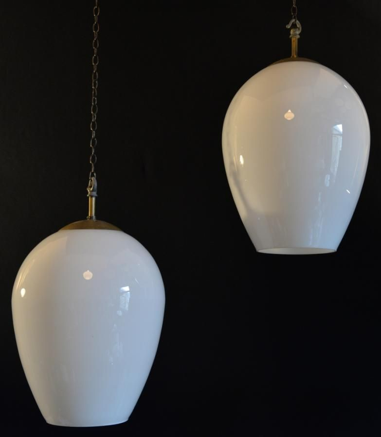Set of 5 rare shaped and sized vintage opaline glass pendant shades set of 5 rare shaped and sized vintage opaline glass pendant shades for sale on aloadofball Gallery