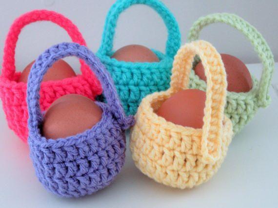 Mini easter basket set crochet mini baskets by amyscrochetcafe mini easter basket set crochet mini baskets by amyscrochetcafe negle Image collections