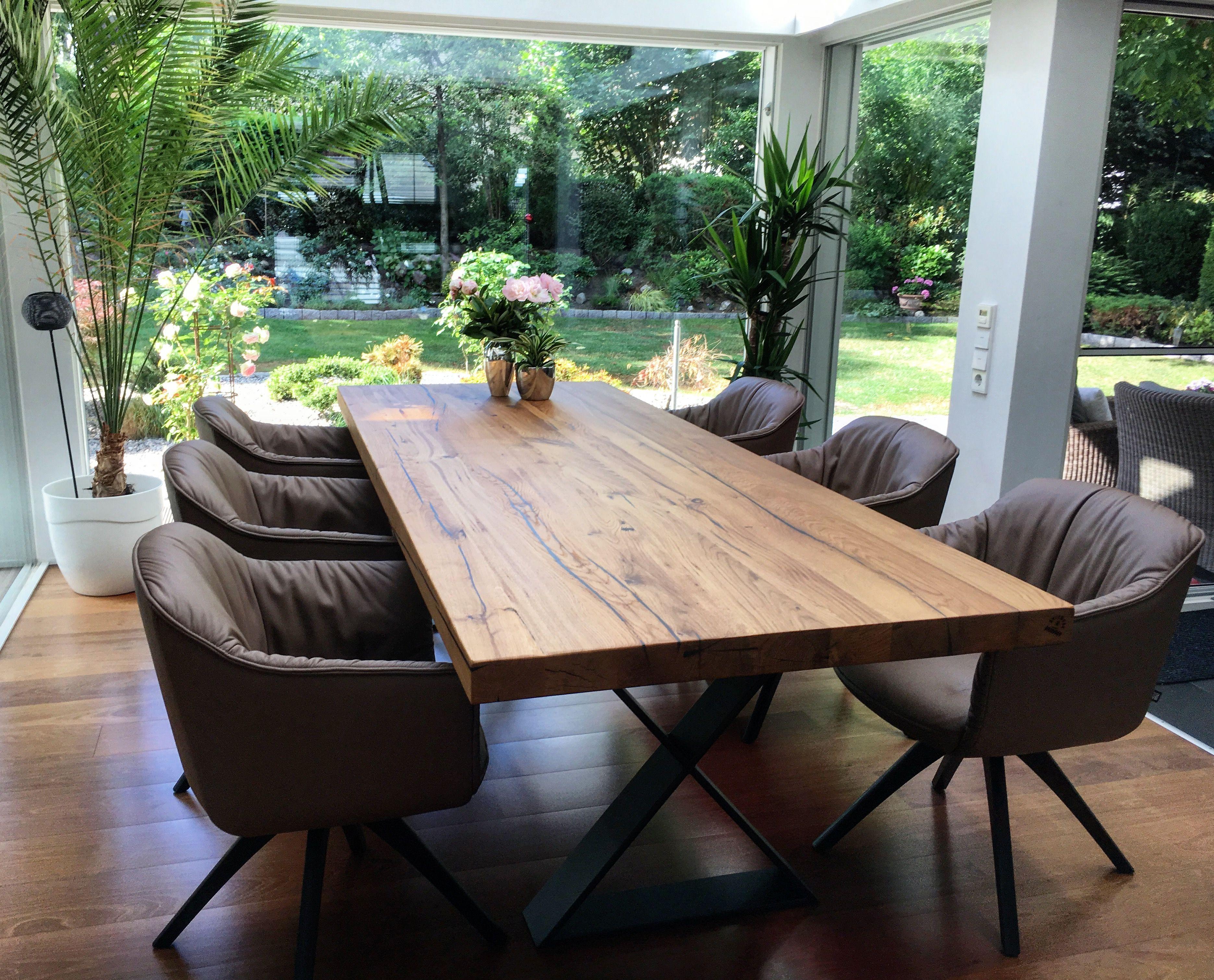 Esstisch massiv Eichenholz Massivholztisch auf Maß ...