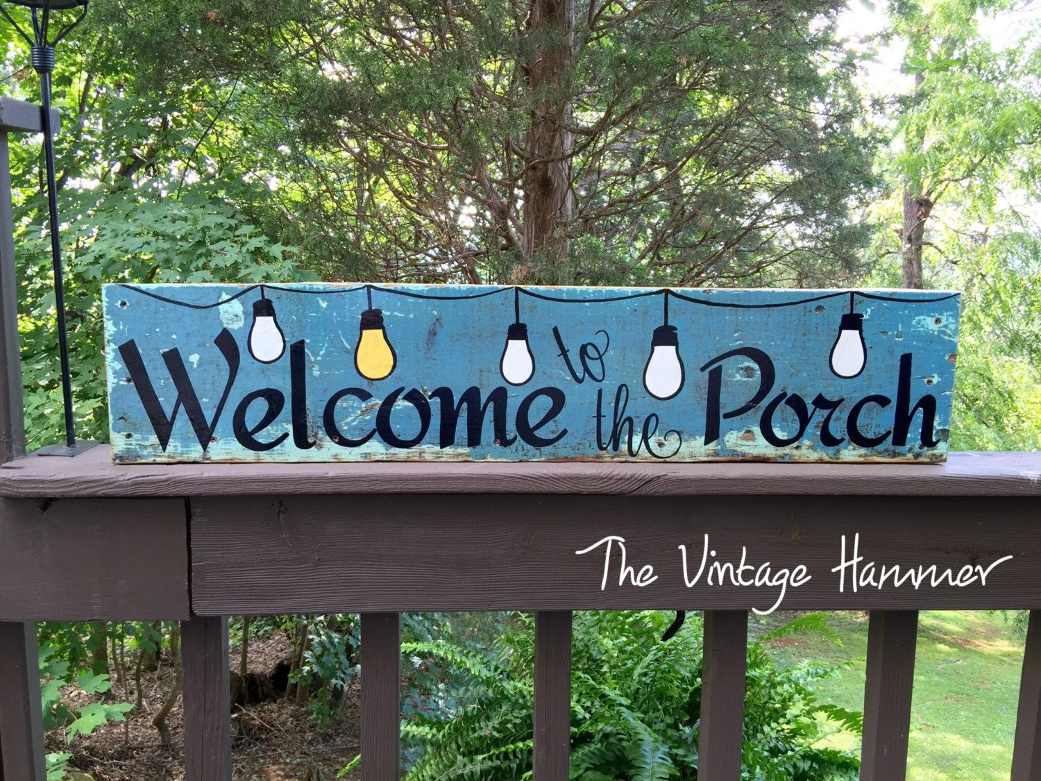 Welcome Porch sign, deck sign, wood sign sayings ...