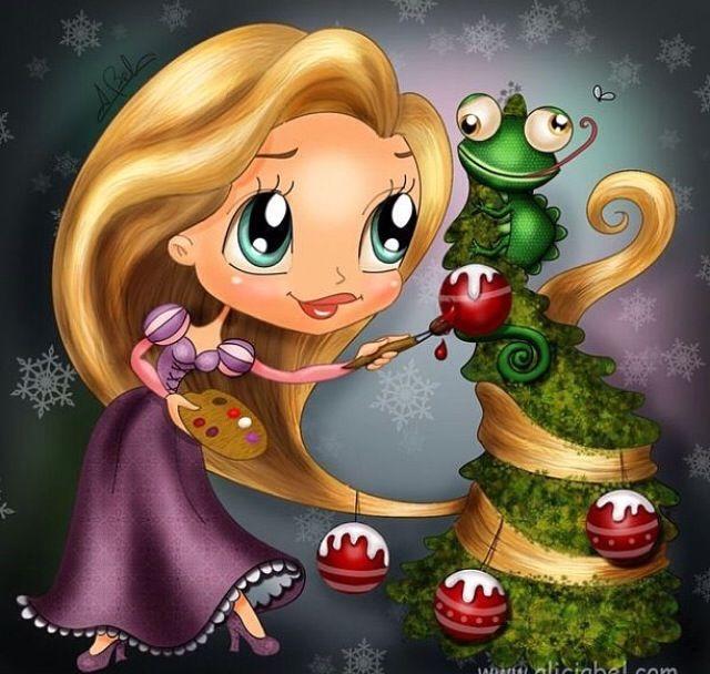 Rapunzel prepara alberello natalizio