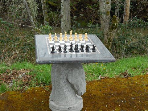 Colored Concrete Pigment Photo Gallery   DirectColors.com. Chess  TableConcrete ...