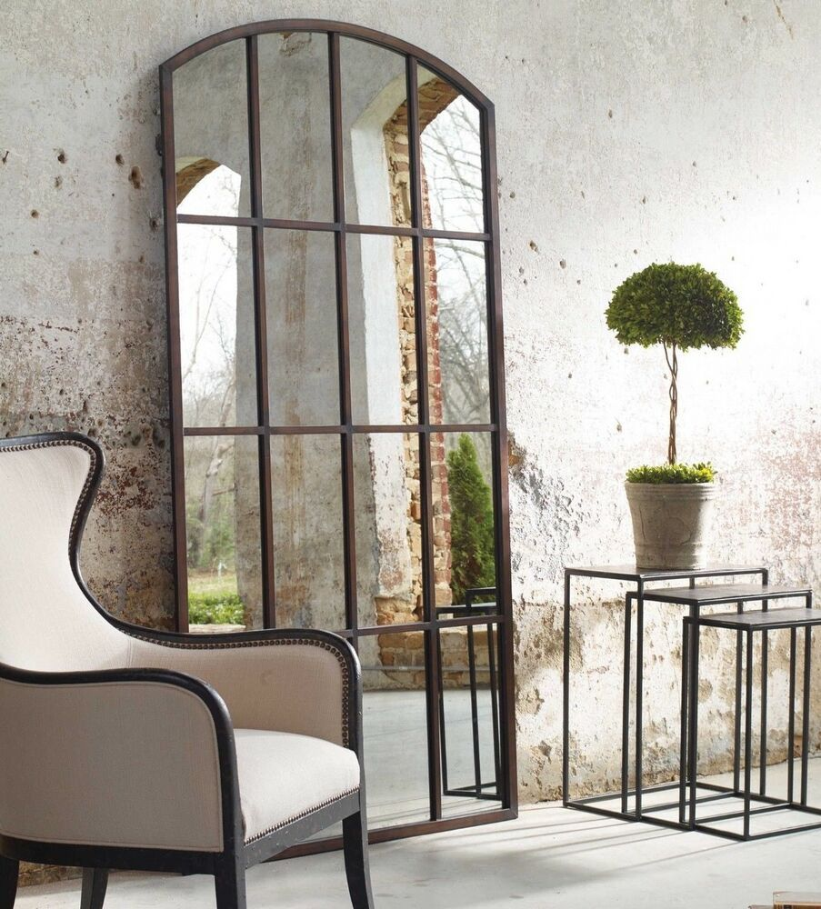 Details about new arched floor wall leaner mirror xl