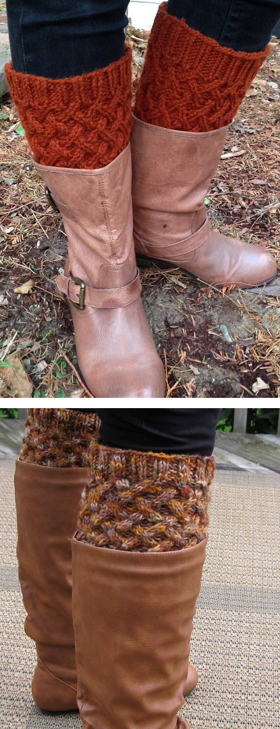 Free Knitting Pattern for Cabled Boot Toppers - These boot ...