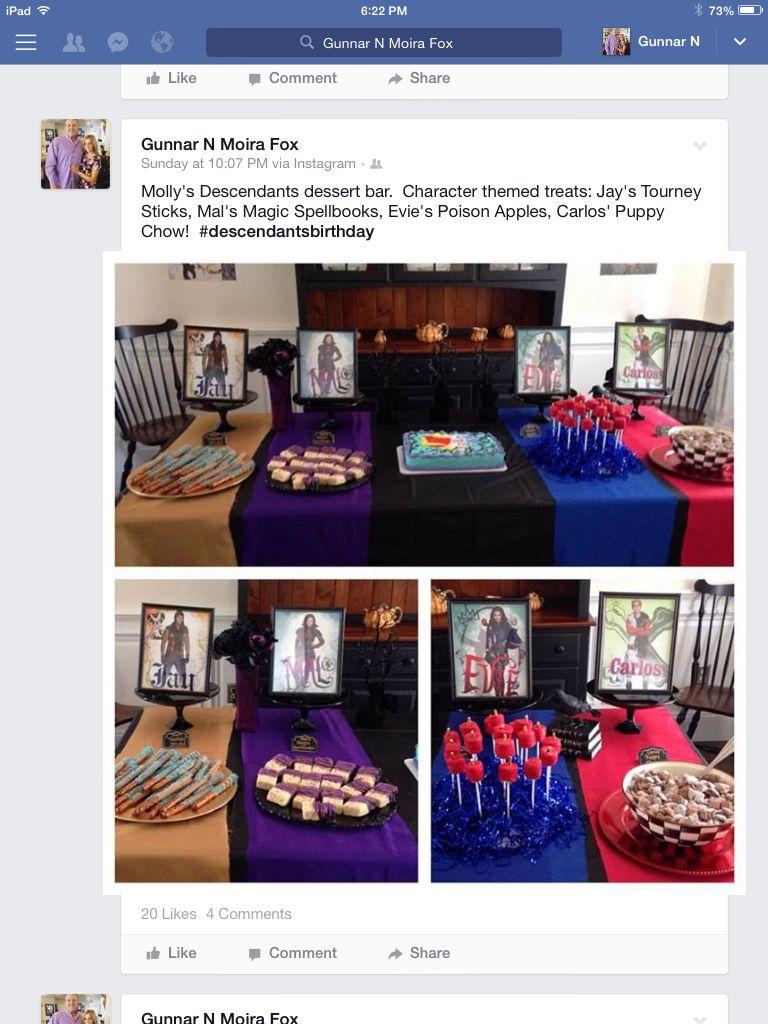 Disney descendants party. Jay's tourney sticks (chocolate covered ...
