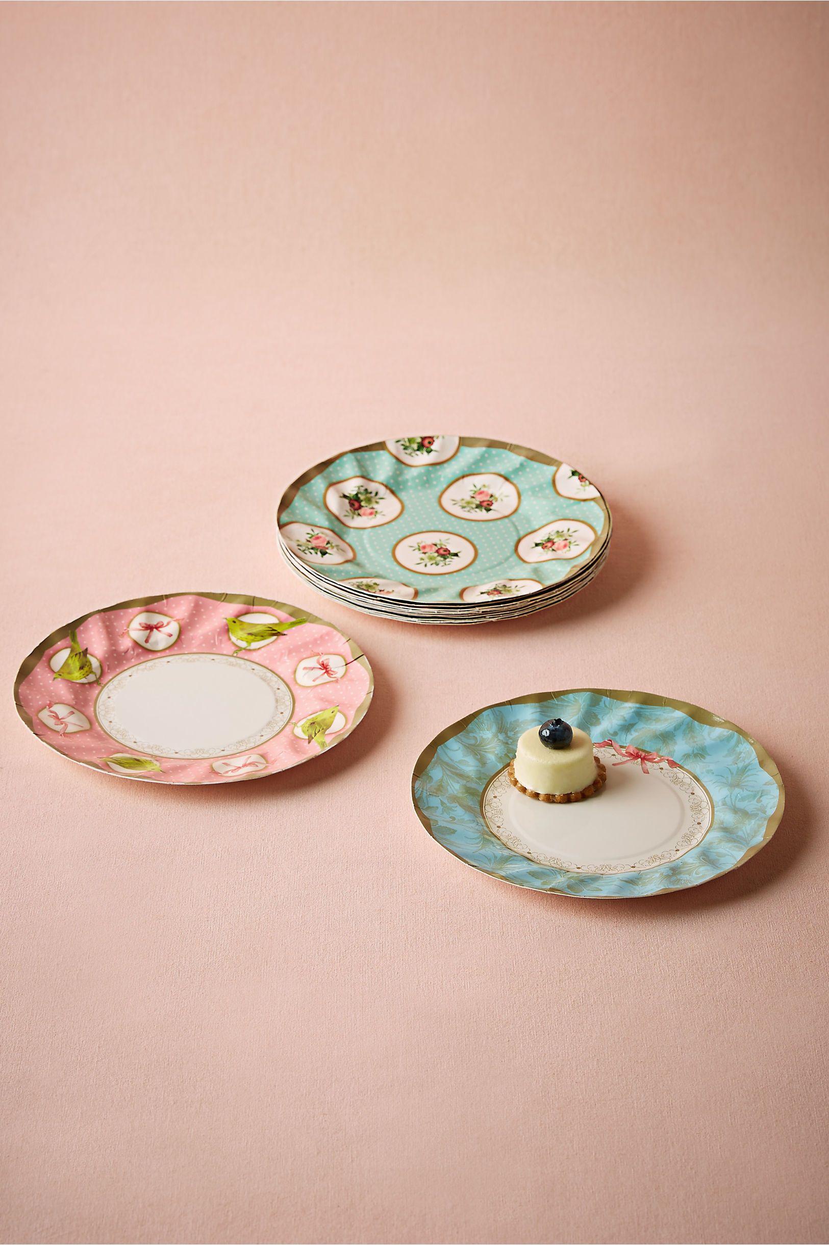 Decorative Paper Plates Set | Tea Party Paper Plates (set of 12) from @ & Decorative Paper Plates Set | Tea Party Paper Plates (set of 12 ...