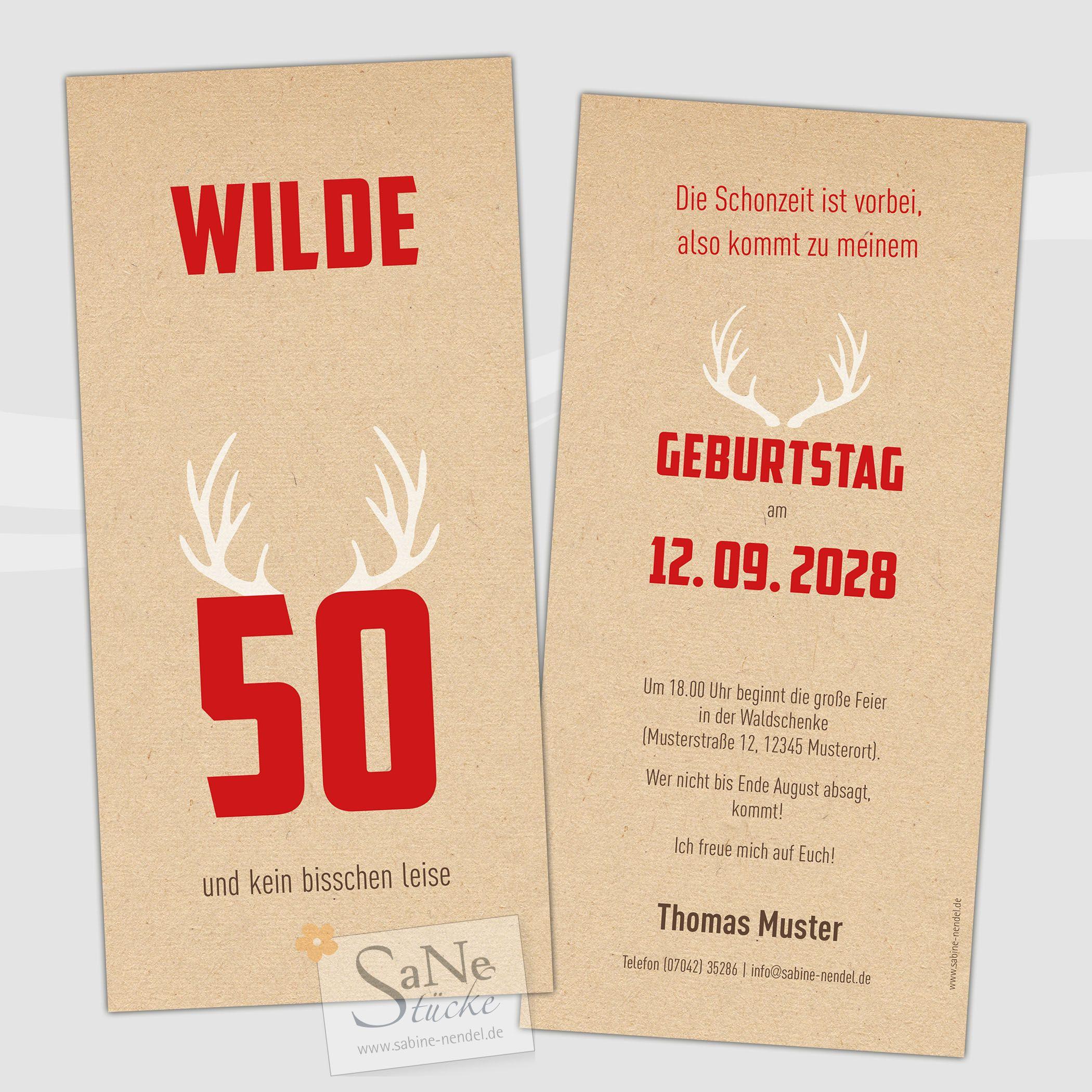 Die Wild E Karte Zur Feier Fur Vierzigender Jager Forster Und