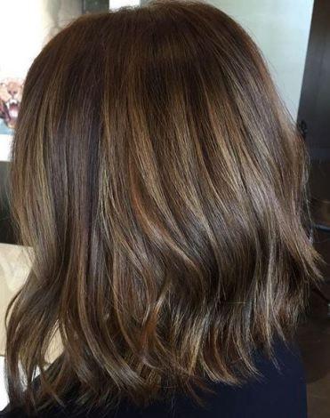 hair color gallery  subtle brunette highlights short