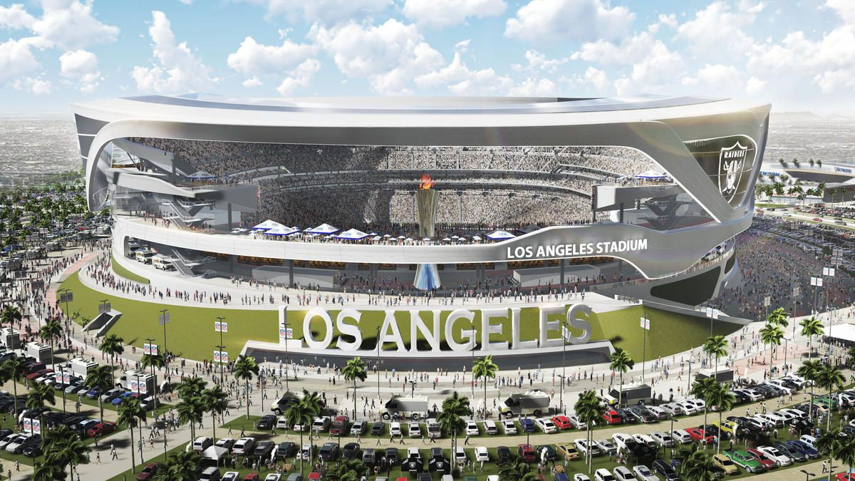 Proposed Los Angeles Stadium Would Feature An Al Davis Eternal Flame Nfl Stadiums Football Stadiums San Diego Chargers