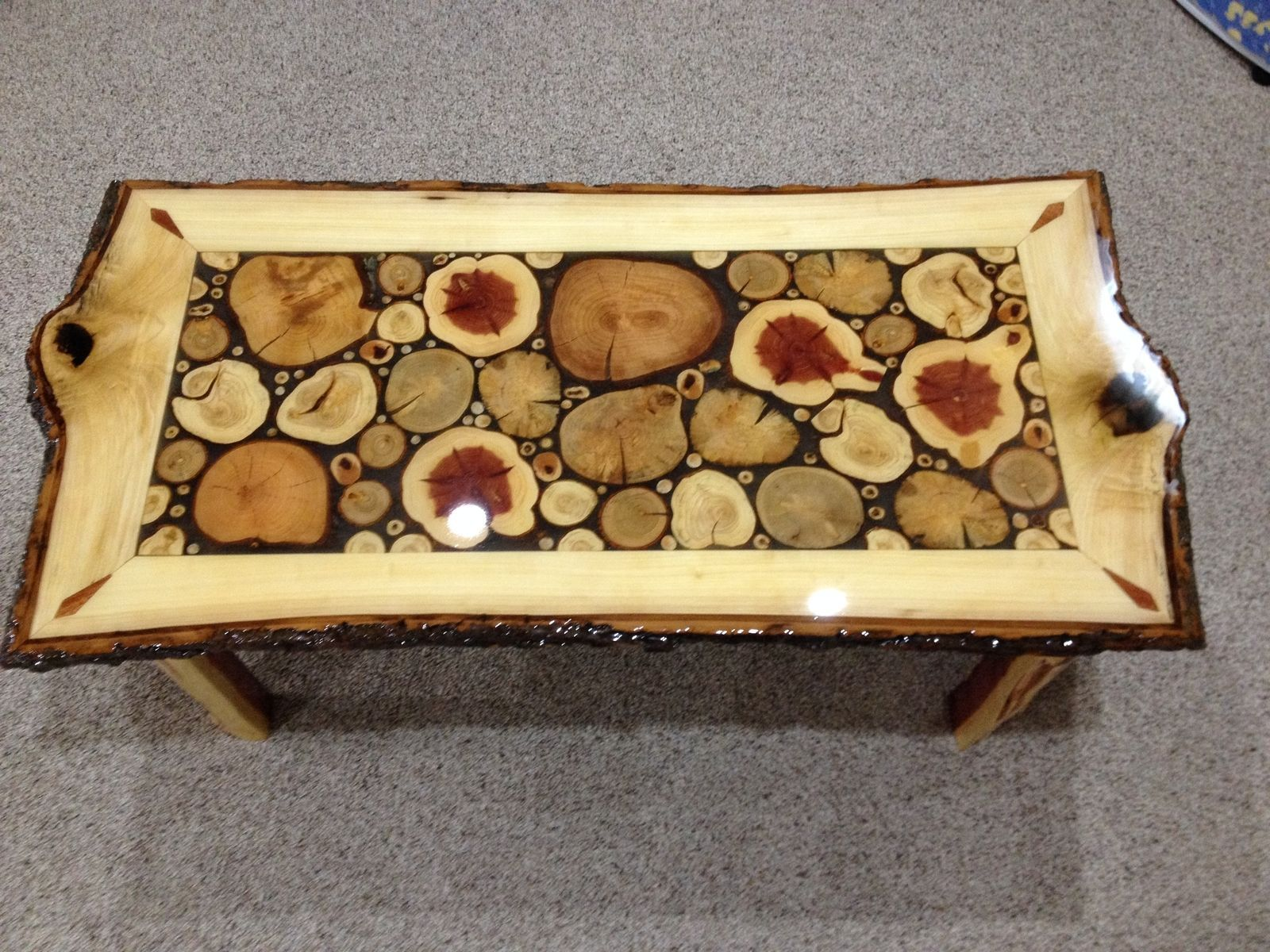 High Quality Custom Made Log Slice Coffee Tables