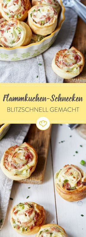 blitzschnelle flammkuchen schnecken rezept backen pinterest flammkuchen kuchen und essen. Black Bedroom Furniture Sets. Home Design Ideas
