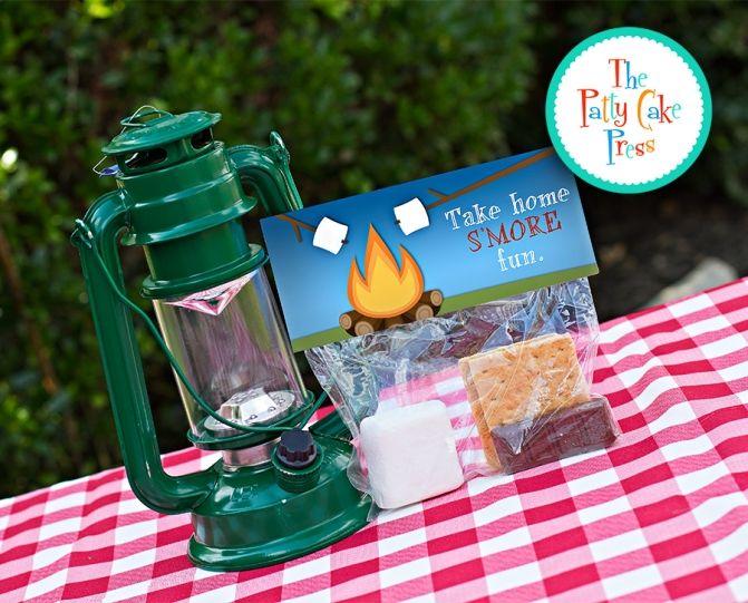 Take Home Smore Fun Camping Party Favors The Patty Cake Press
