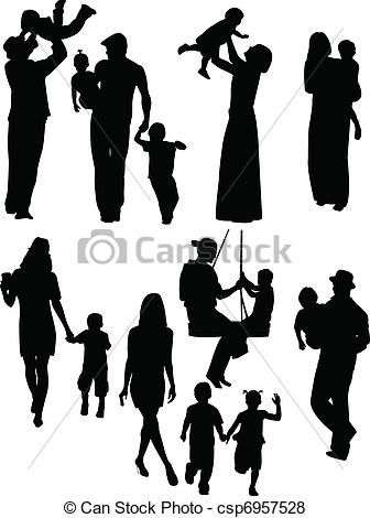 More Parent Child Silhouettes Not As Wild About These Children Vector Child Silhouette Family Silhouette